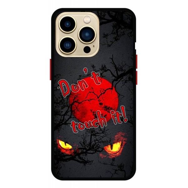 Husa Premium Spate Upzz Pro Anti Shock Compatibila Cu Iphone 13 Pro , Model Bloody Moon, Rama Neagra
