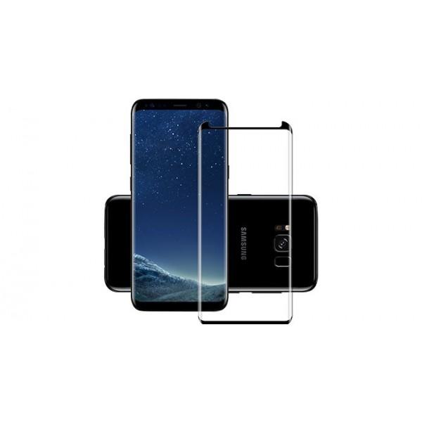Folie Sticla Maxcell Samsung S8+ Plus Cu Adeziv Pe Toata Suprafata Small Negru